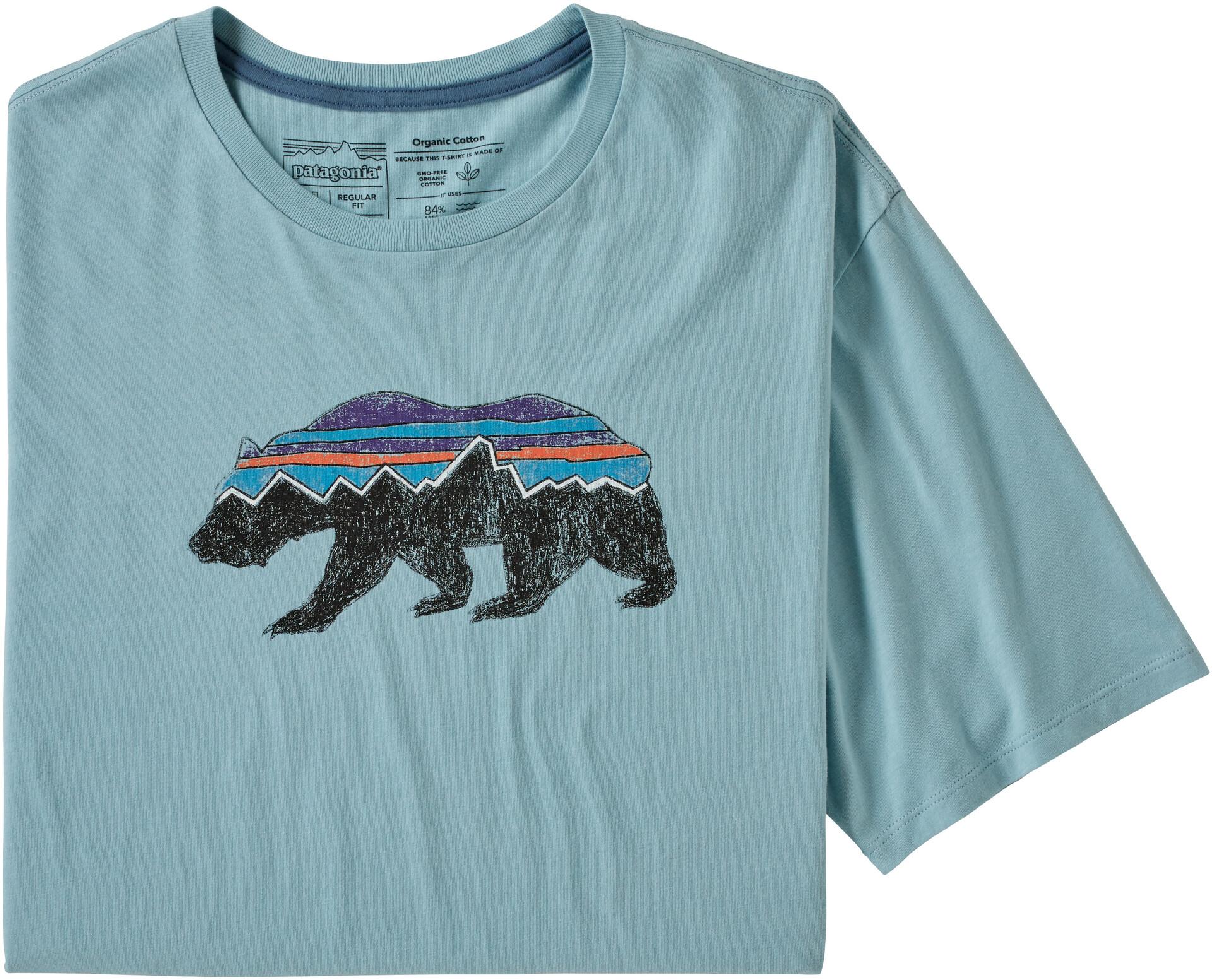 Patagonia Fitz Roy Bear Organic Maglietta Uomo, big sky blue su Addnature PShLx